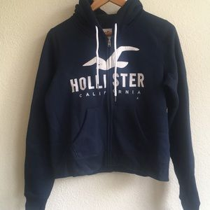Hollister sweatshirt zip up NEW size M
